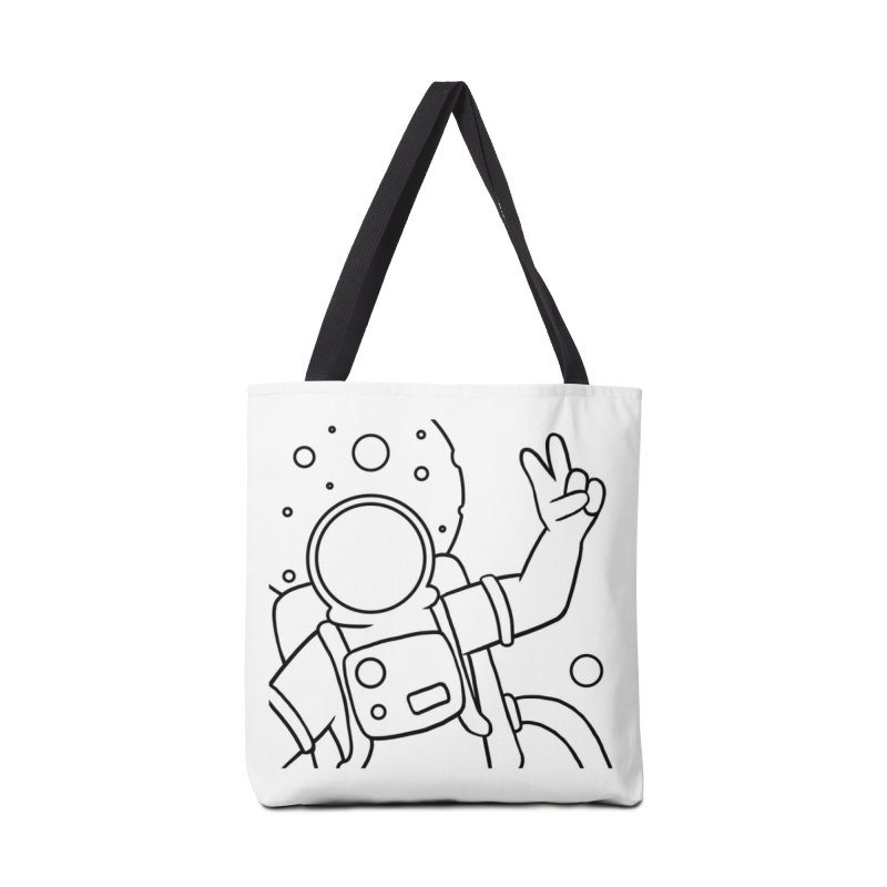 Inter-Cool-Actic - Close-up - Black Accessories Tote Bag Bag by Rachel Yelding | enchantedviolin