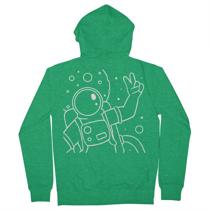 Inter-Cool-Actic - Close-Up - White Men's French Terry Zip-Up Hoody by Rachel Yelding   enchantedviolin