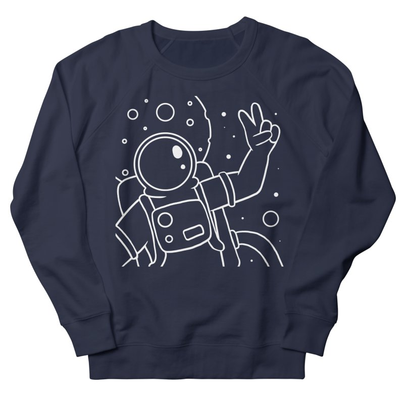 Inter-Cool-Actic - Close-Up - White Men's French Terry Sweatshirt by Rachel Yelding | enchantedviolin