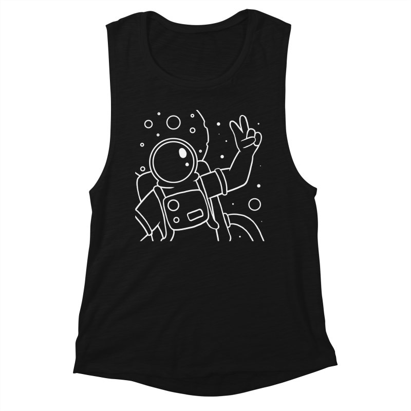 Inter-Cool-Actic - Close-Up - White Women's Muscle Tank by Rachel Yelding | enchantedviolin