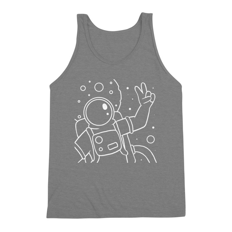 Inter-Cool-Actic - Close-Up - White Men's Triblend Tank by Rachel Yelding | enchantedviolin