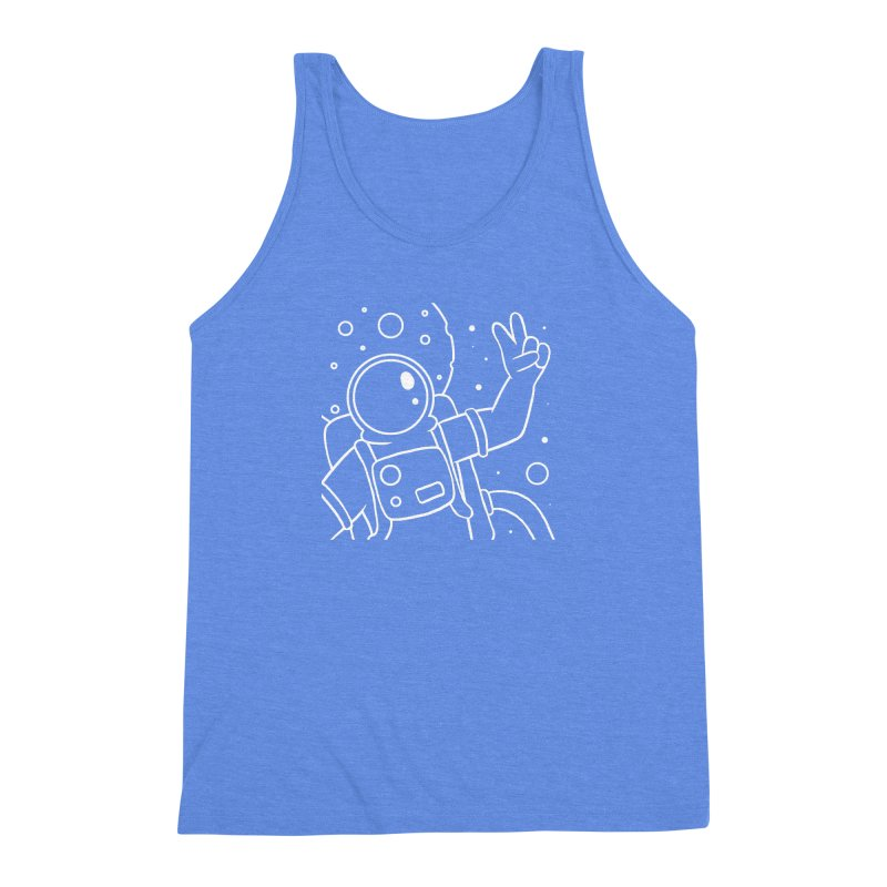 Inter-Cool-Actic - Close-Up - White Men's Triblend Tank by Rachel Yelding   enchantedviolin