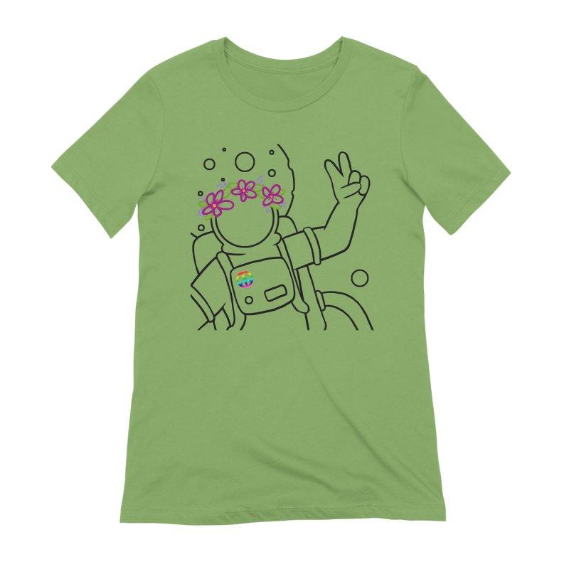 Come in Peace - Black Women's Extra Soft T-Shirt by Rachel Yelding   enchantedviolin