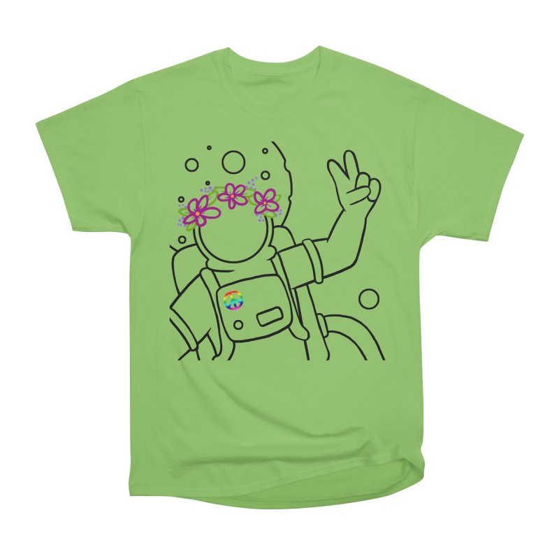 Come in Peace - Black Men's Heavyweight T-Shirt by Rachel Yelding   enchantedviolin