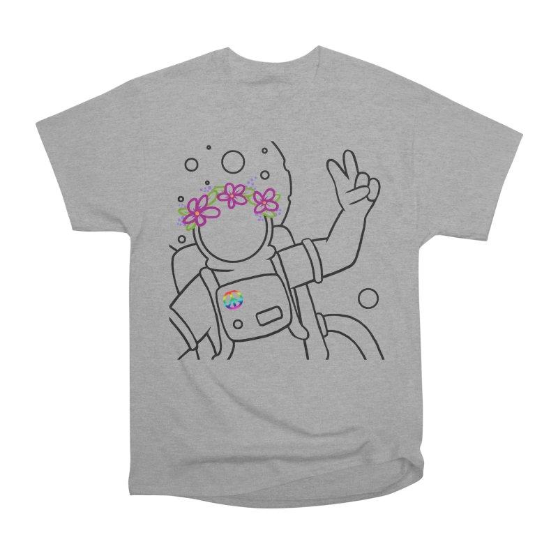 Come in Peace - Black Women's Heavyweight Unisex T-Shirt by Rachel Yelding | enchantedviolin