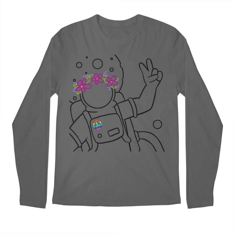 Come in Peace - Black Men's Regular Longsleeve T-Shirt by Rachel Yelding | enchantedviolin