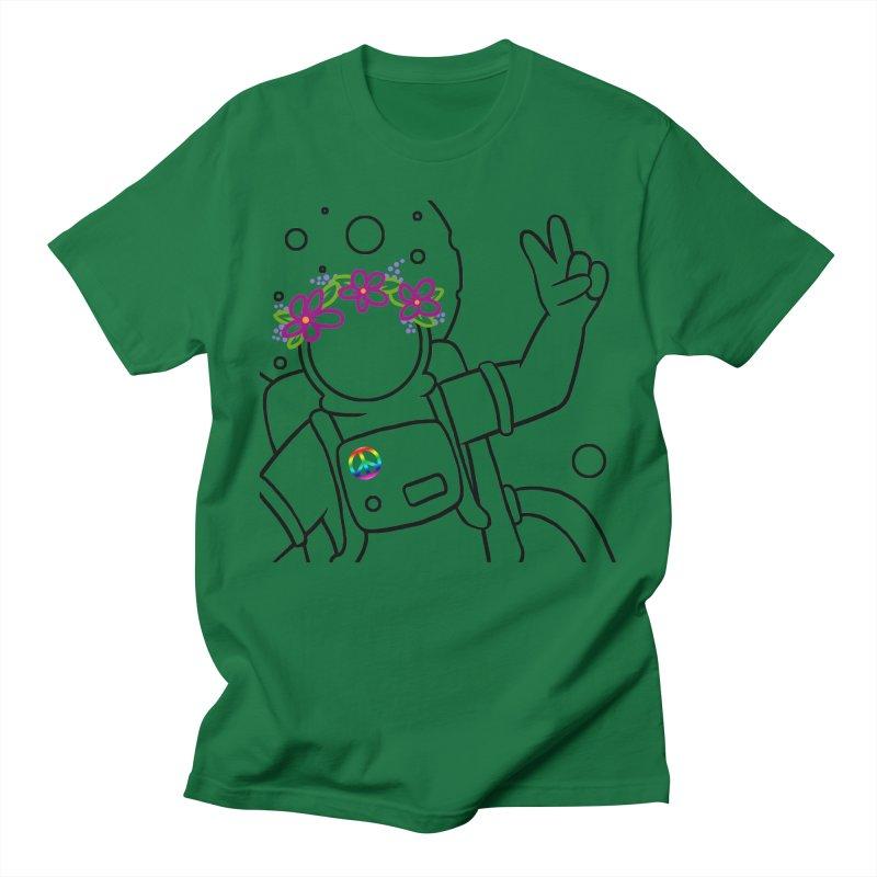 Come in Peace - Black Men's Regular T-Shirt by Rachel Yelding   enchantedviolin