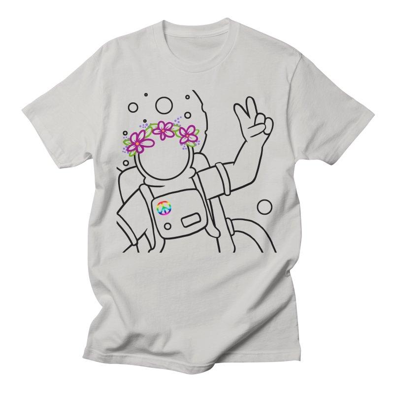 Come in Peace - Black Women's Regular Unisex T-Shirt by Rachel Yelding | enchantedviolin
