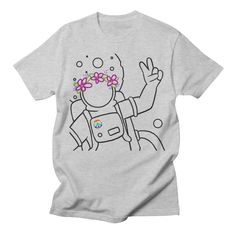 Come in Peace - Black Men's Regular T-Shirt by Rachel Yelding | enchantedviolin