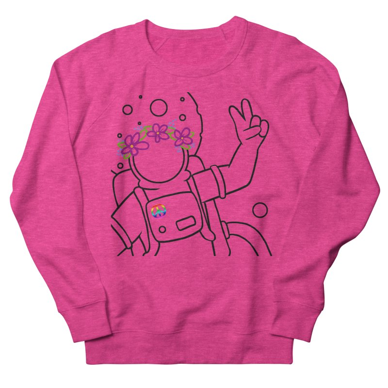 Come in Peace - Black Women's French Terry Sweatshirt by Rachel Yelding | enchantedviolin