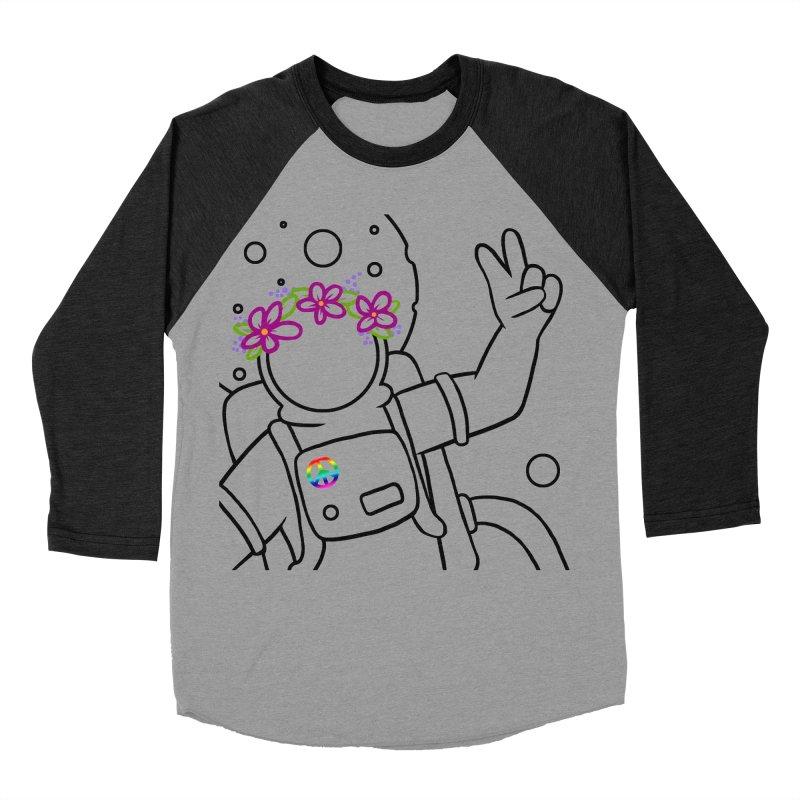 Come in Peace - Black Men's Baseball Triblend T-Shirt by Rachel Yelding | enchantedviolin