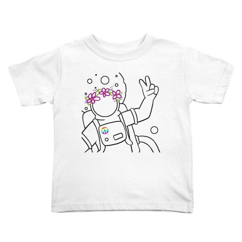 Come in Peace - Black Kids Toddler T-Shirt by Rachel Yelding | enchantedviolin