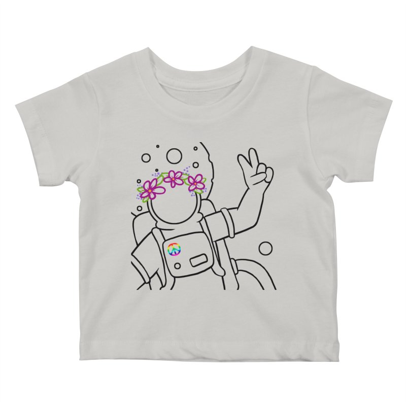 Come in Peace - Black Kids Baby T-Shirt by Rachel Yelding | enchantedviolin
