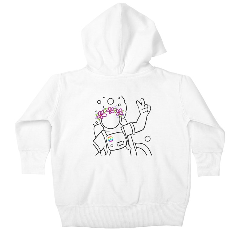 Come in Peace - Black Kids Baby Zip-Up Hoody by Rachel Yelding | enchantedviolin