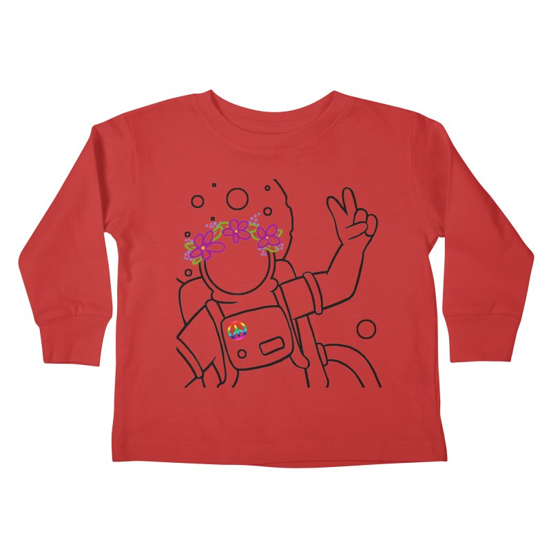 Come in Peace - Black Kids Toddler Longsleeve T-Shirt by Rachel Yelding | enchantedviolin