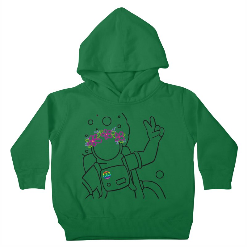 Come in Peace - Black Kids Toddler Pullover Hoody by Rachel Yelding | enchantedviolin