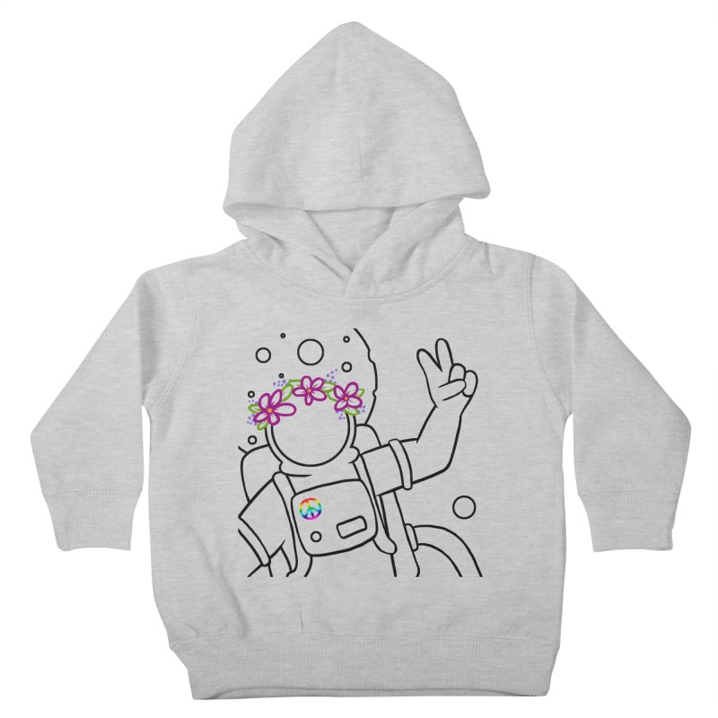 Come in Peace - Black Kids Toddler Pullover Hoody by Rachel Yelding   enchantedviolin