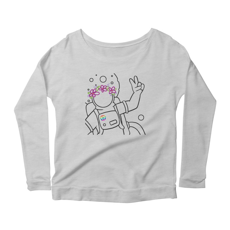 Come in Peace - Black Women's Scoop Neck Longsleeve T-Shirt by Rachel Yelding | enchantedviolin