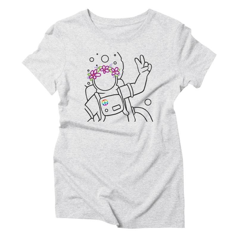Come in Peace - Black Women's Triblend T-Shirt by Rachel Yelding | enchantedviolin
