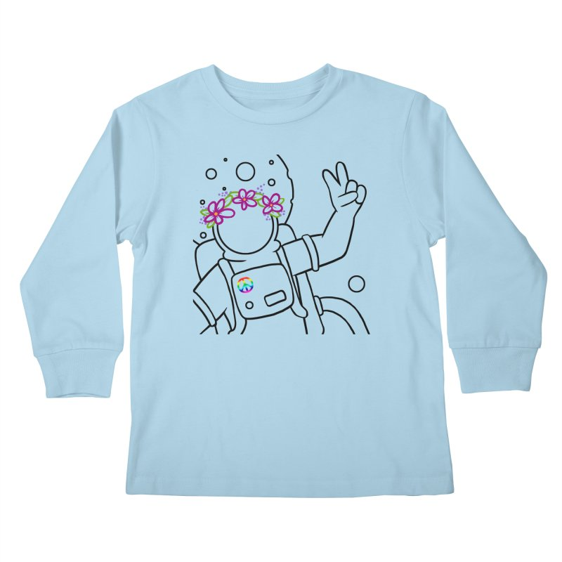Come in Peace - Black Kids Longsleeve T-Shirt by Rachel Yelding | enchantedviolin