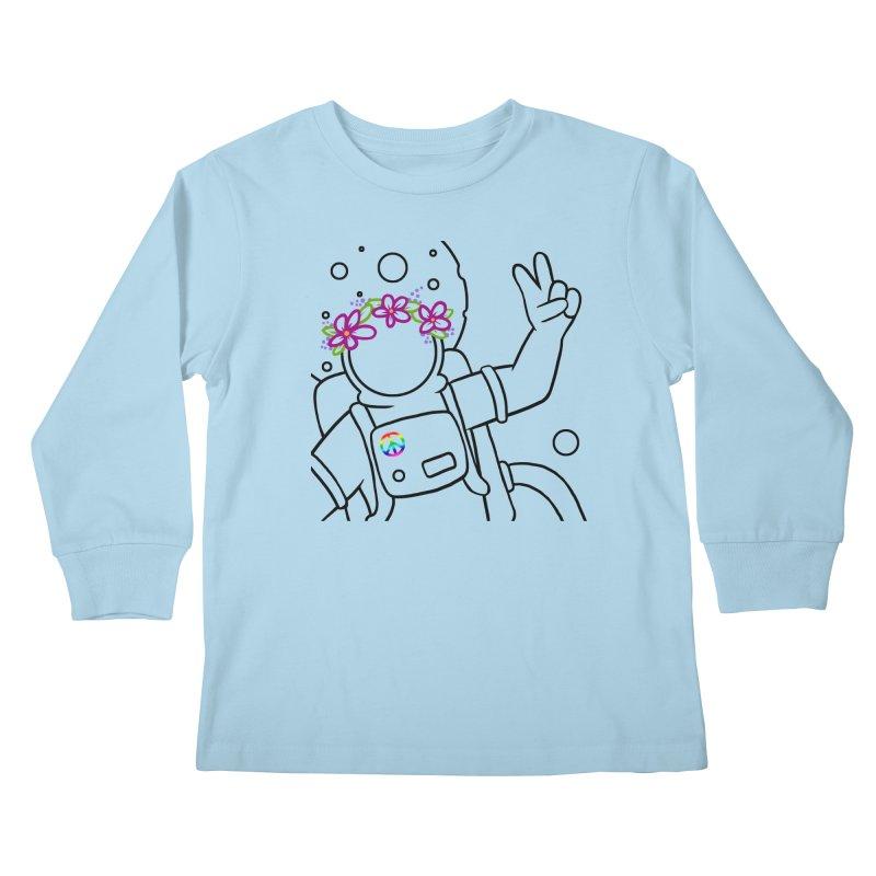 Come in Peace - Black Kids Longsleeve T-Shirt by Rachel Yelding | enchantedviolin