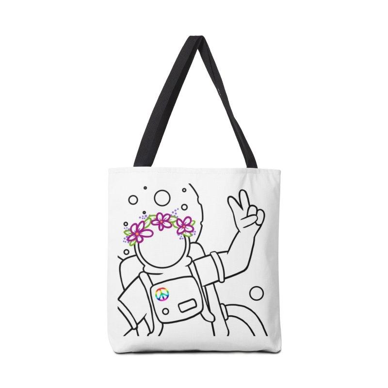 Come in Peace - Black Accessories Tote Bag Bag by Rachel Yelding | enchantedviolin
