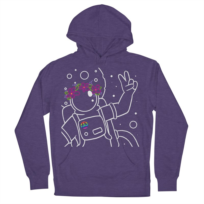 Come in Peace - White Men's French Terry Pullover Hoody by Rachel Yelding   enchantedviolin