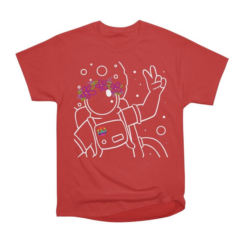 Come in Peace - White Women's Heavyweight Unisex T-Shirt by Rachel Yelding | enchantedviolin