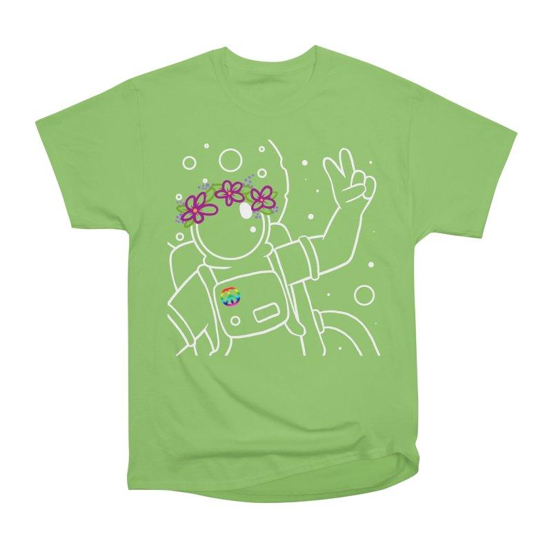 Come in Peace - White Men's Heavyweight T-Shirt by Rachel Yelding | enchantedviolin