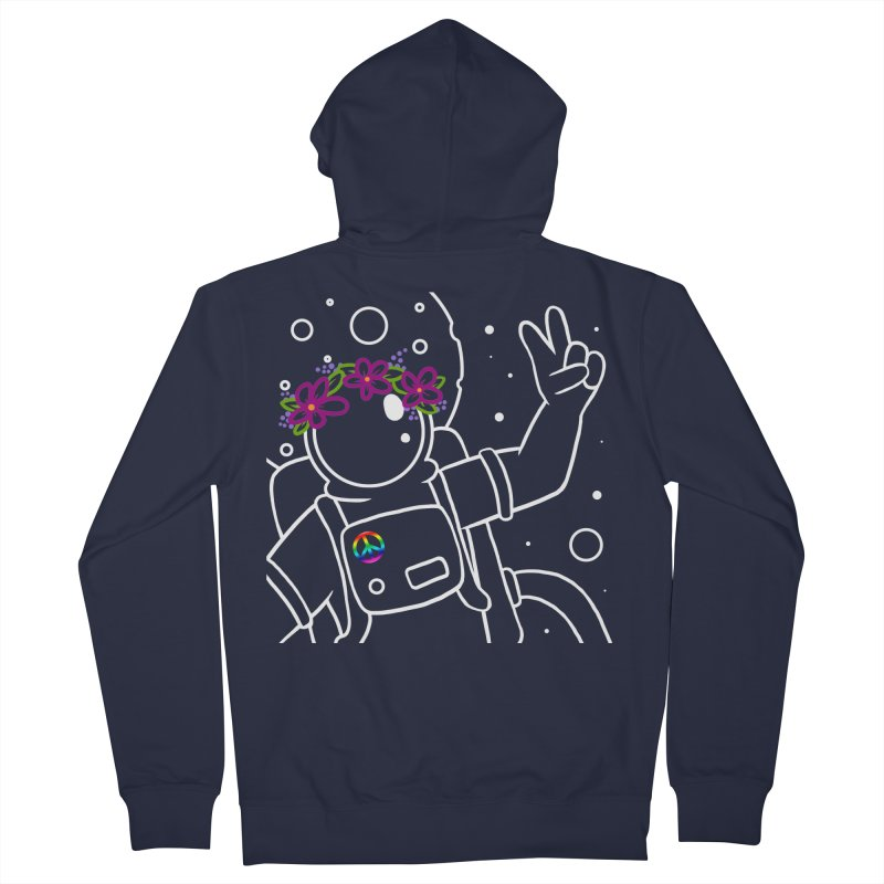 Come in Peace - White Men's French Terry Zip-Up Hoody by Rachel Yelding   enchantedviolin