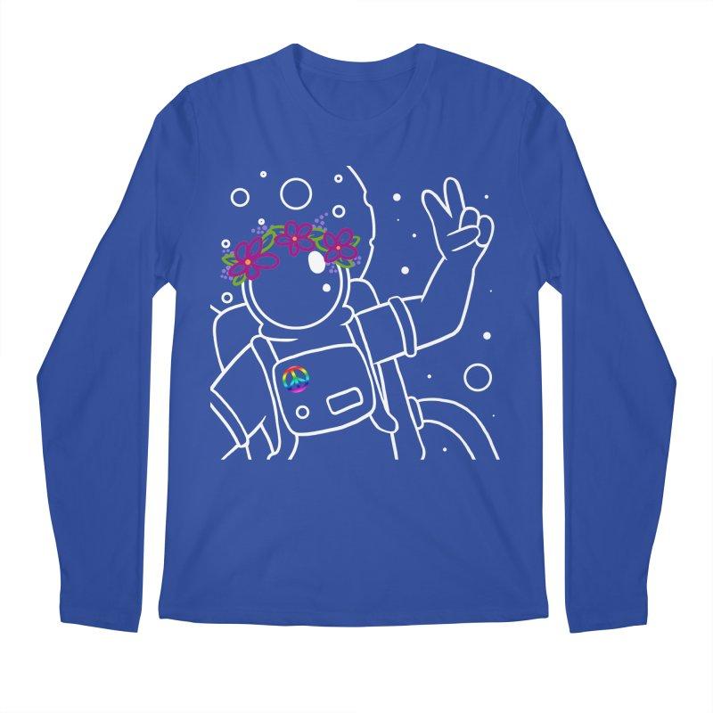 Come in Peace - White Men's Regular Longsleeve T-Shirt by Rachel Yelding | enchantedviolin