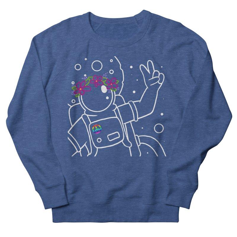 Come in Peace - White Women's French Terry Sweatshirt by Rachel Yelding | enchantedviolin