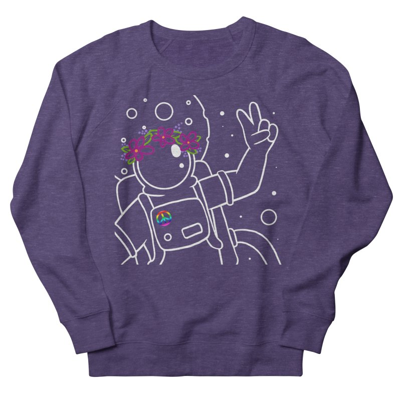Come in Peace - White Men's French Terry Sweatshirt by Rachel Yelding | enchantedviolin