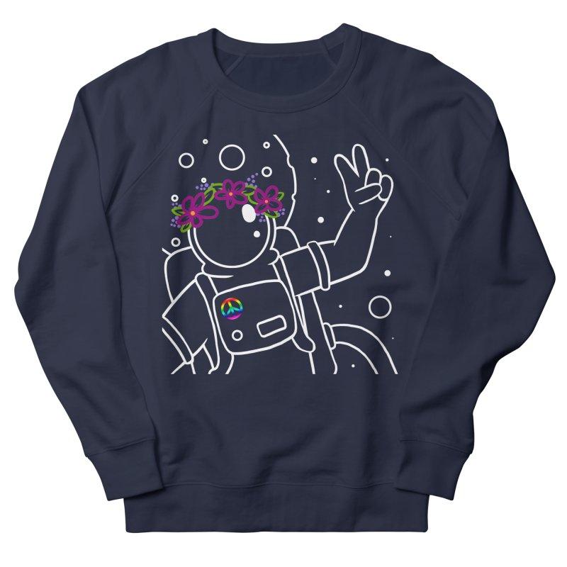 Come in Peace - White Men's Sweatshirt by Rachel Yelding | enchantedviolin