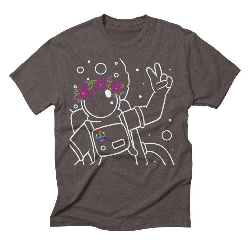 Come in Peace - White Men's Triblend T-Shirt by Rachel Yelding | enchantedviolin