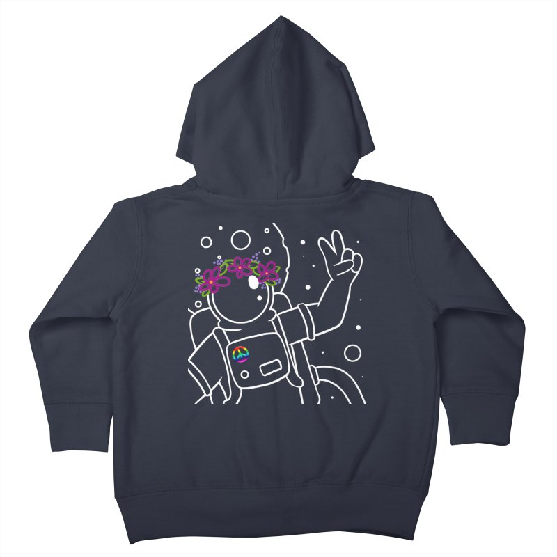 Come in Peace - White Kids Toddler Zip-Up Hoody by Rachel Yelding | enchantedviolin