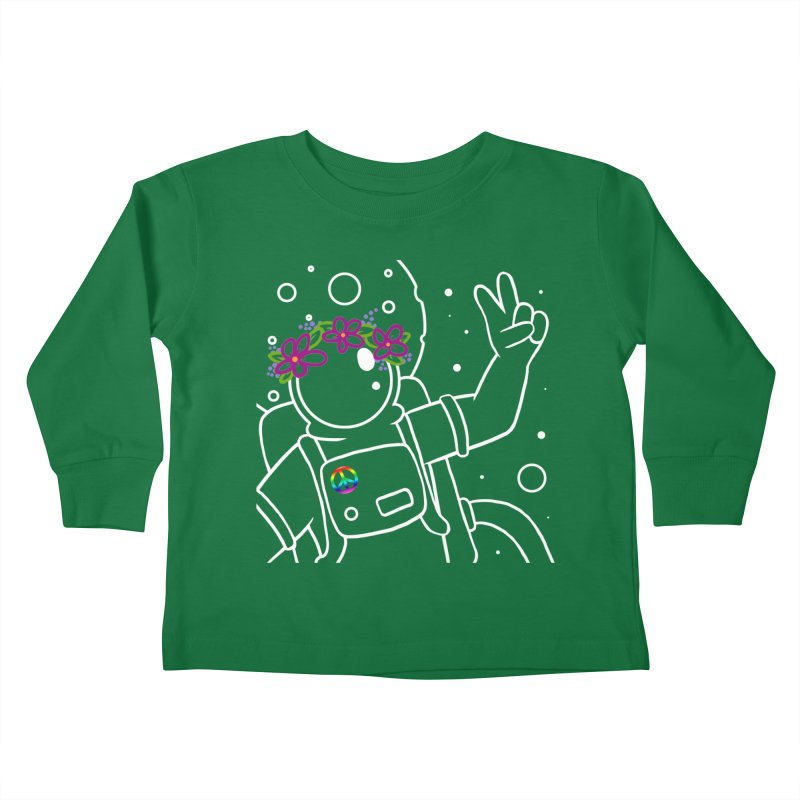 Come in Peace - White Kids Toddler Longsleeve T-Shirt by Rachel Yelding | enchantedviolin