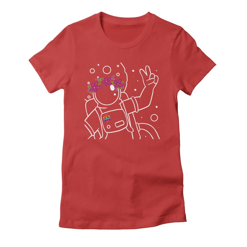 Come in Peace - White Women's Fitted T-Shirt by Rachel Yelding | enchantedviolin
