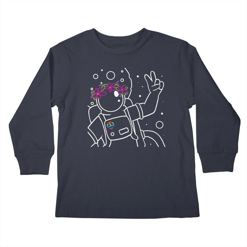 Come in Peace - White Kids Longsleeve T-Shirt by Rachel Yelding | enchantedviolin