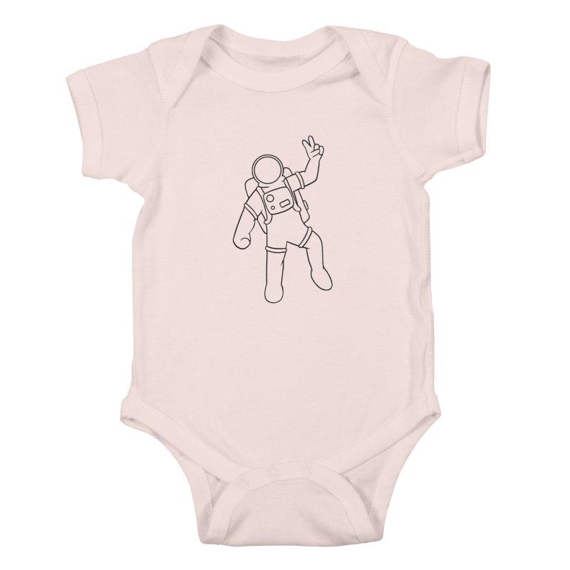 Inter-Cool-Actic - Black - No Text Kids Baby Bodysuit by Rachel Yelding | enchantedviolin