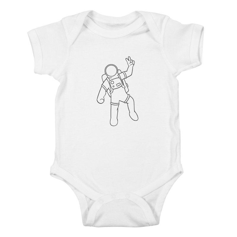 Inter-Cool-Actic - Black - No Text Kids Baby Bodysuit by Rachel Yelding   enchantedviolin