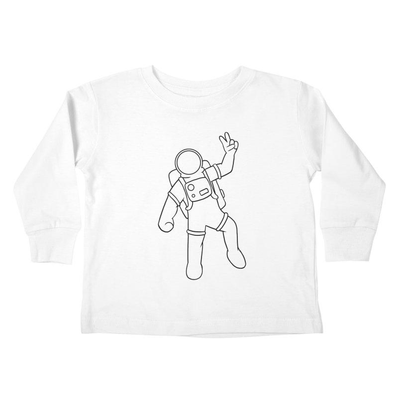 Inter-Cool-Actic - Black - No Text Kids Toddler Longsleeve T-Shirt by Rachel Yelding | enchantedviolin