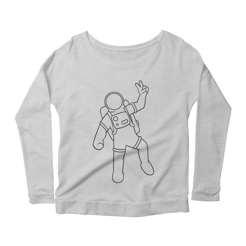 Inter-Cool-Actic - Black - No Text Women's Scoop Neck Longsleeve T-Shirt by Rachel Yelding | enchantedviolin