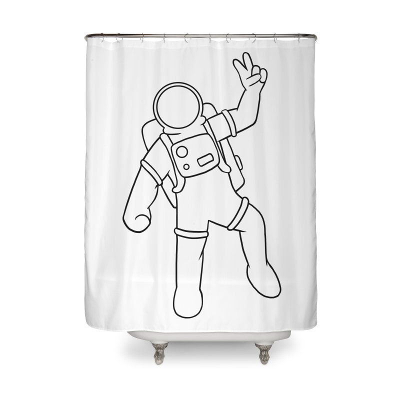 Inter-Cool-Actic - Black - No Text Home Shower Curtain by Rachel Yelding | enchantedviolin