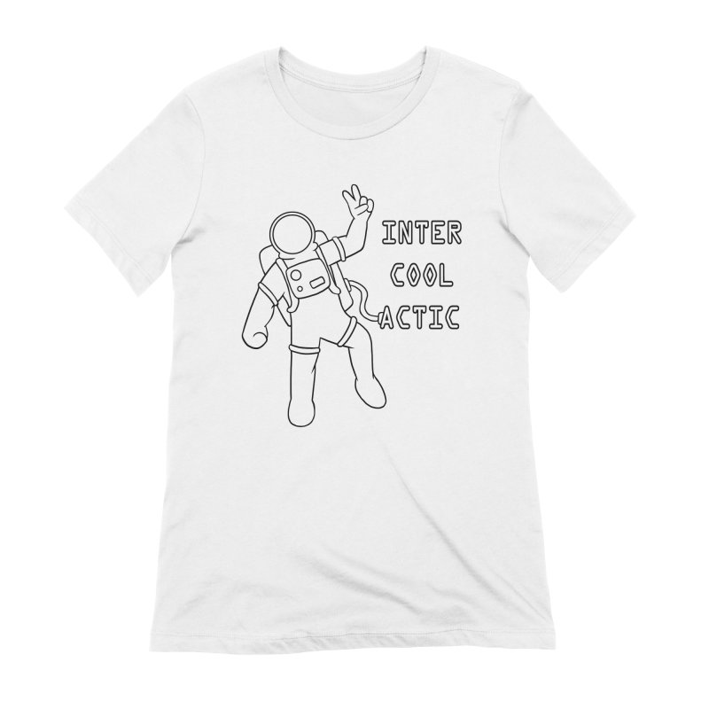 Inter-Cool-Actic - Black - Text Women's Extra Soft T-Shirt by Rachel Yelding | enchantedviolin