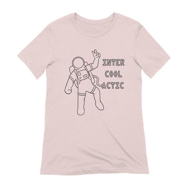 Inter-Cool-Actic - Black - Text Women's Extra Soft T-Shirt by Rachel Yelding | enchantedviolin