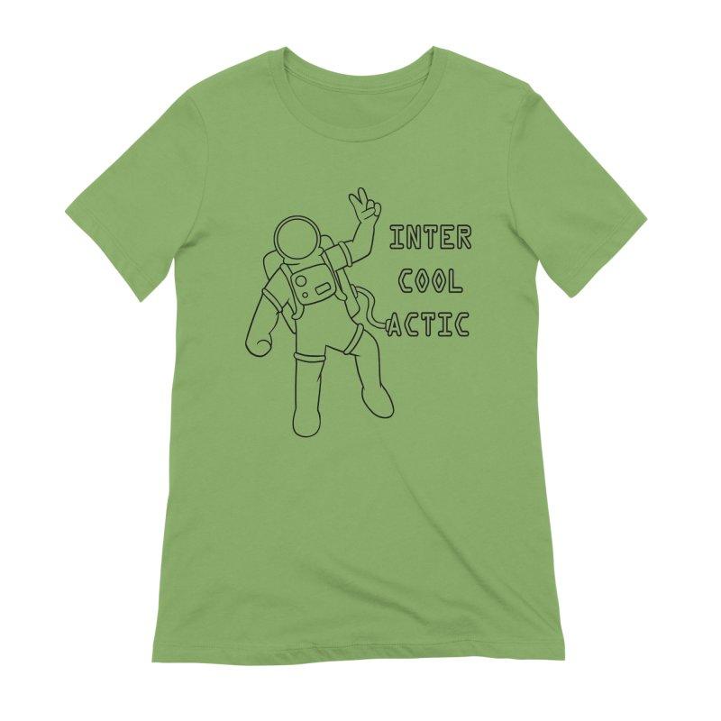 Inter-Cool-Actic - Black - Text Women's Extra Soft T-Shirt by Rachel Yelding   enchantedviolin