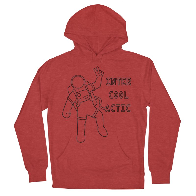 Inter-Cool-Actic - Black - Text Men's French Terry Pullover Hoody by Rachel Yelding | enchantedviolin