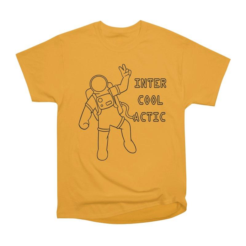 Inter-Cool-Actic - Black - Text Men's Heavyweight T-Shirt by Rachel Yelding   enchantedviolin
