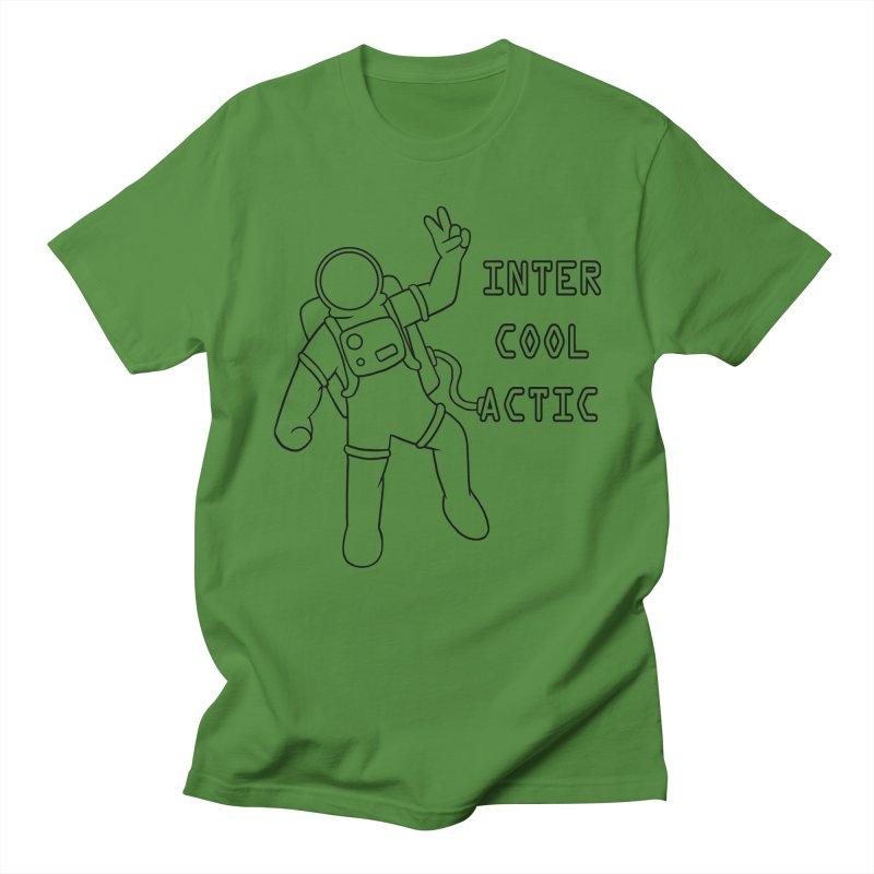 Inter-Cool-Actic - Black - Text Women's Regular Unisex T-Shirt by Rachel Yelding | enchantedviolin